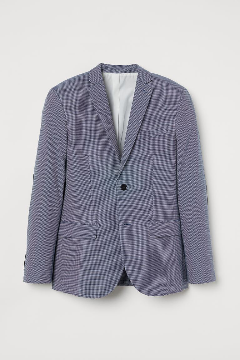 Blazer Slim Fit - Blu scuro/bianco - UOMO | H&M IT