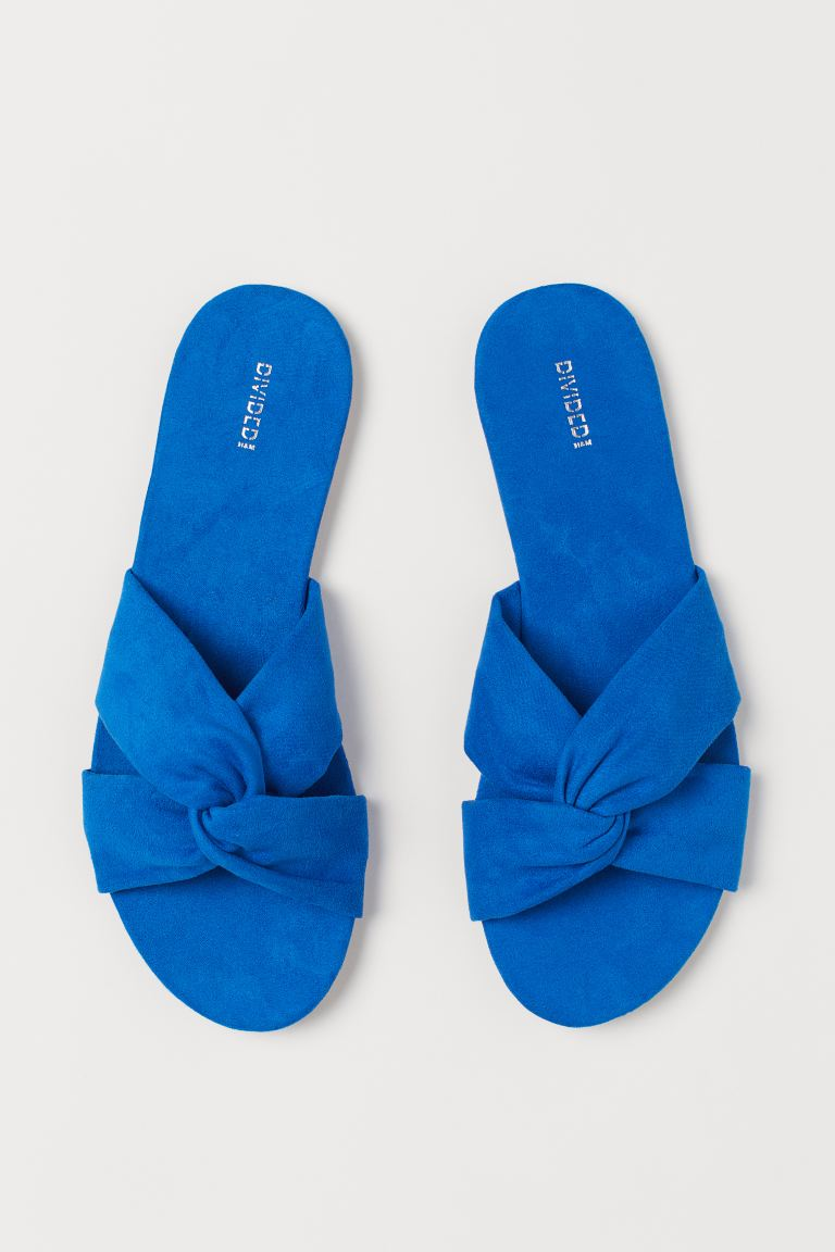 Slides - Bright blue - Ladies | H&M US
