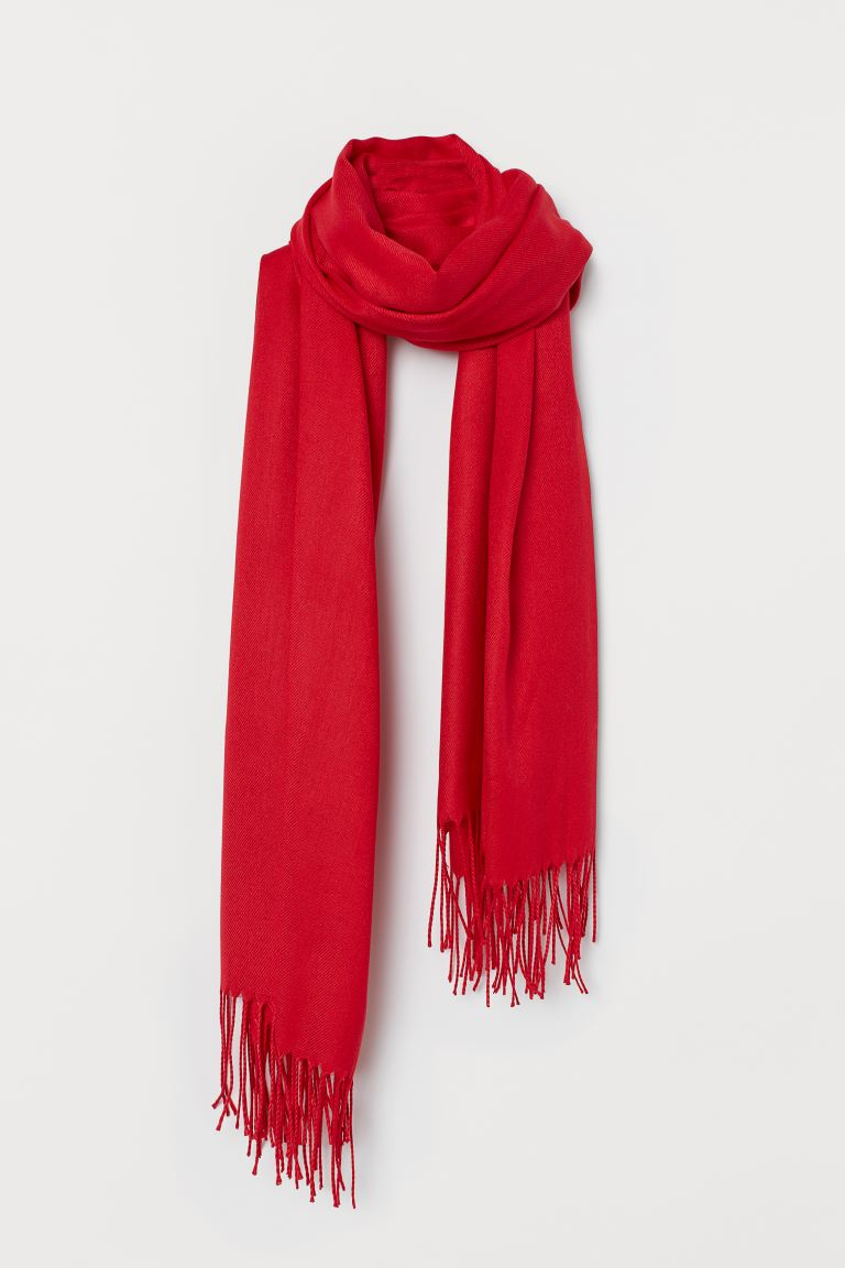 Woven scarf - Red - Ladies | H&M