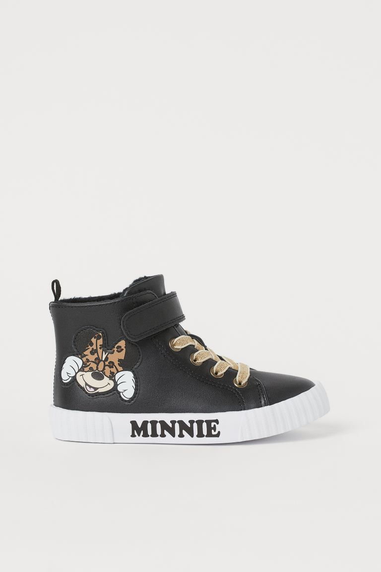 Hi-top trainers - Black/Minnie Mouse - Kids | H&M
