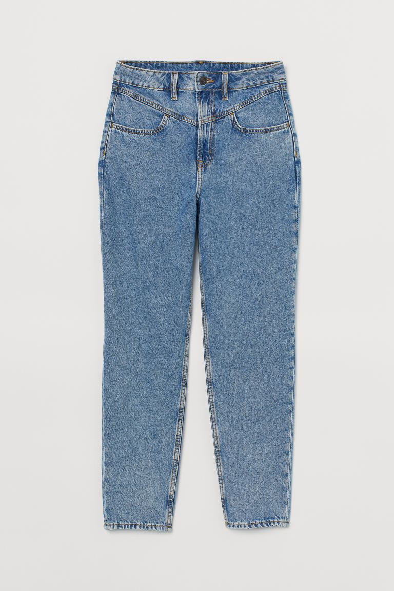 Mom High Ankle Jeans - Denim blue/Washed - Ladies | H&M AU