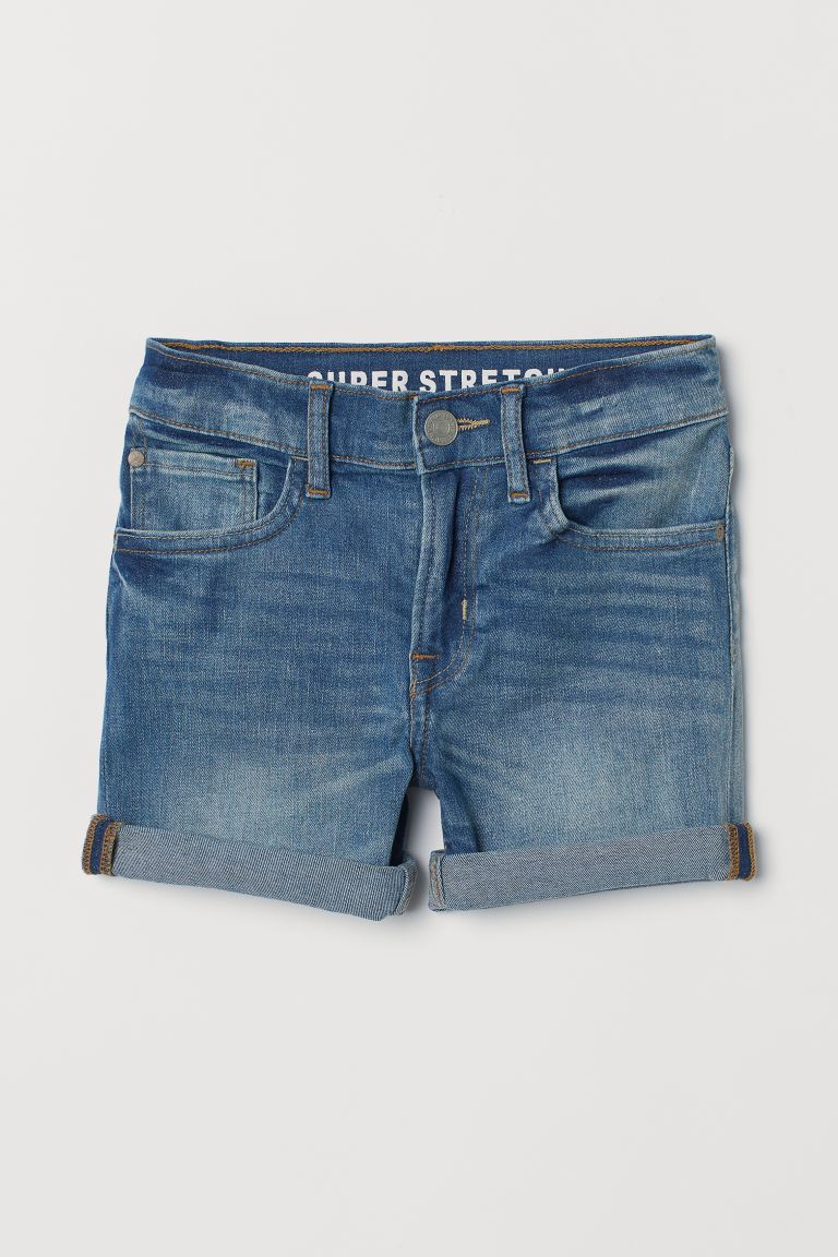 Superstretch Denim Shorts - Denim blue - Kids | H&M US