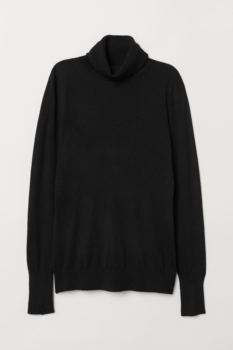 Fine-knit Turtleneck Sweater - Black - Ladies | H&M US