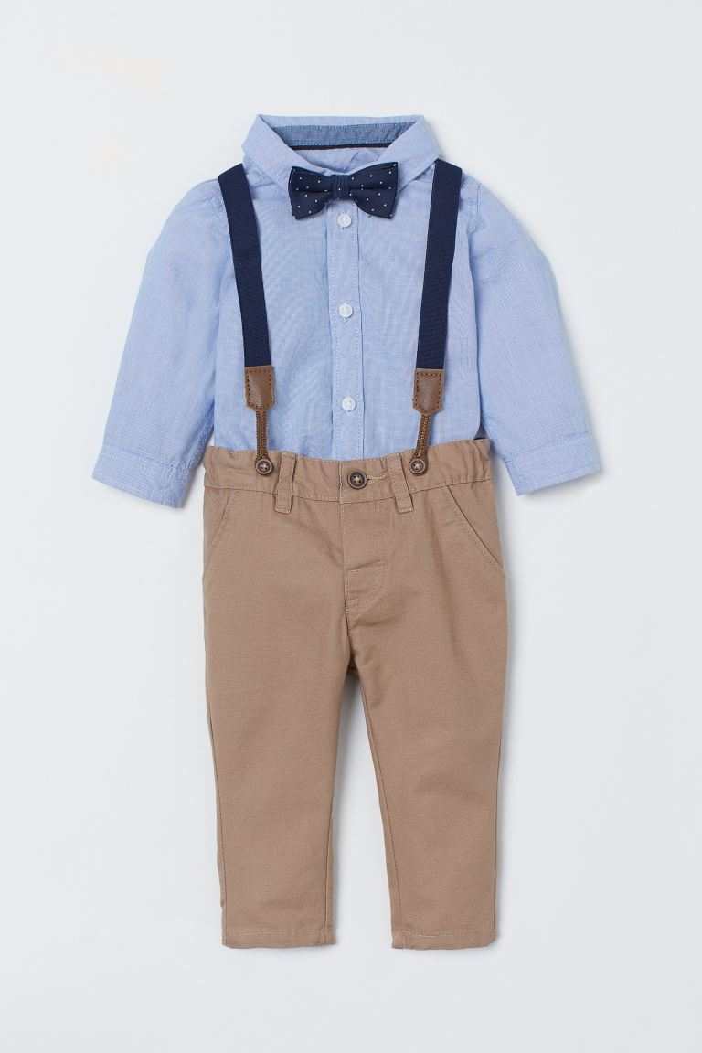 Shirt and Chinos - Light blue/beige - Kids | H&M US