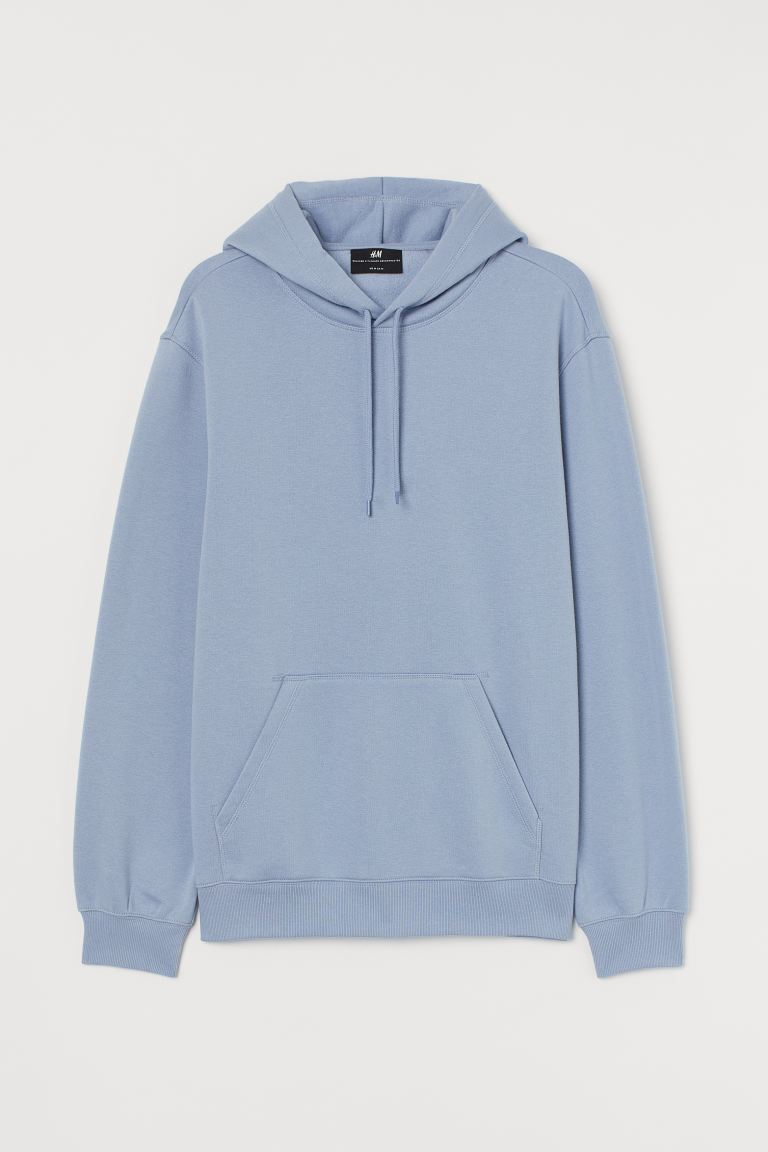 Hoodie Relaxed Fit - Pigeon blue - Men | H&M IN