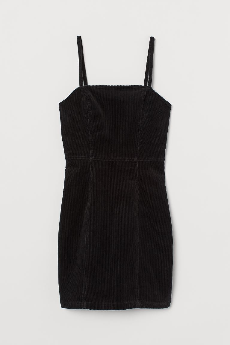 Cotton bodycon dress - Black - Ladies | H&M