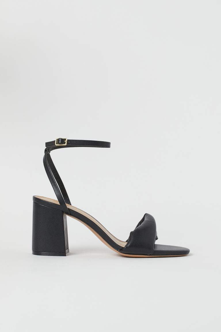 Twisted-strap sandals - Black - Ladies | H&M