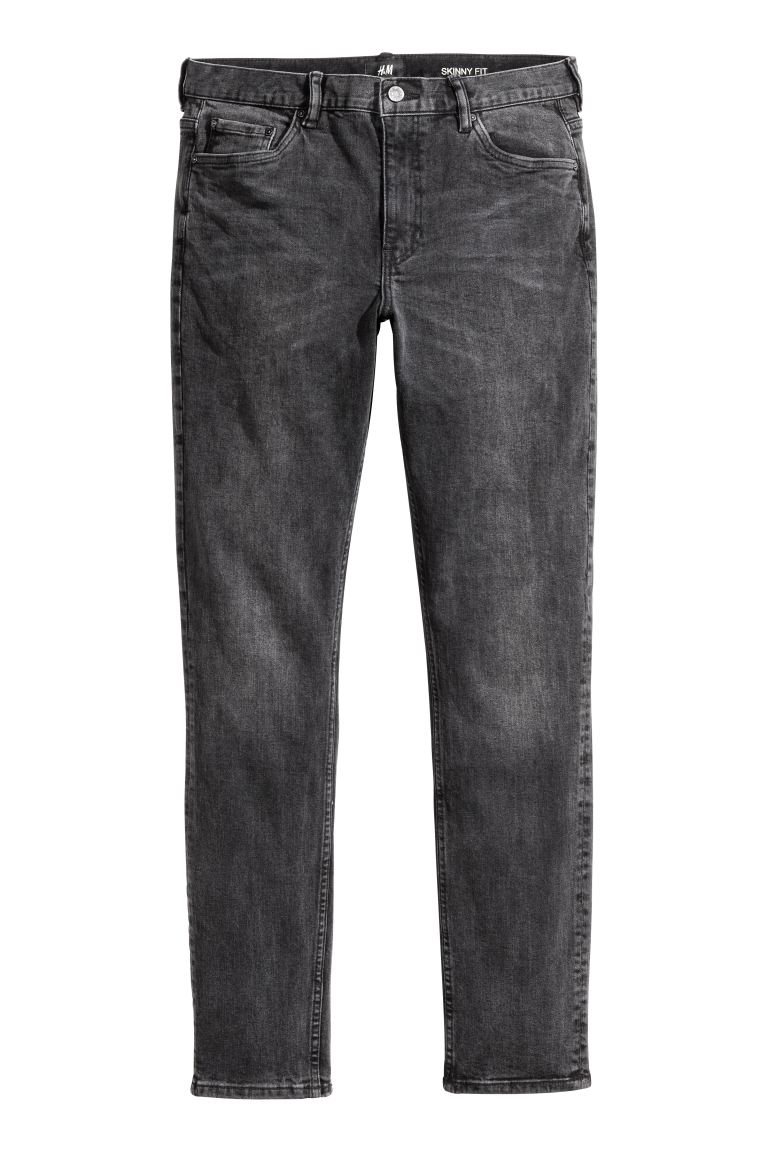 Skinny Jeans - Zwart washed out - HEREN | H&M NL