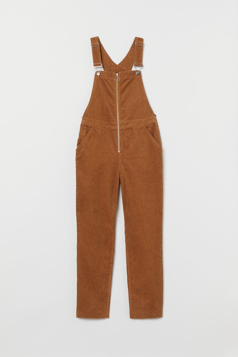 Corduroy dungarees - Brown - Ladies | H&M IE