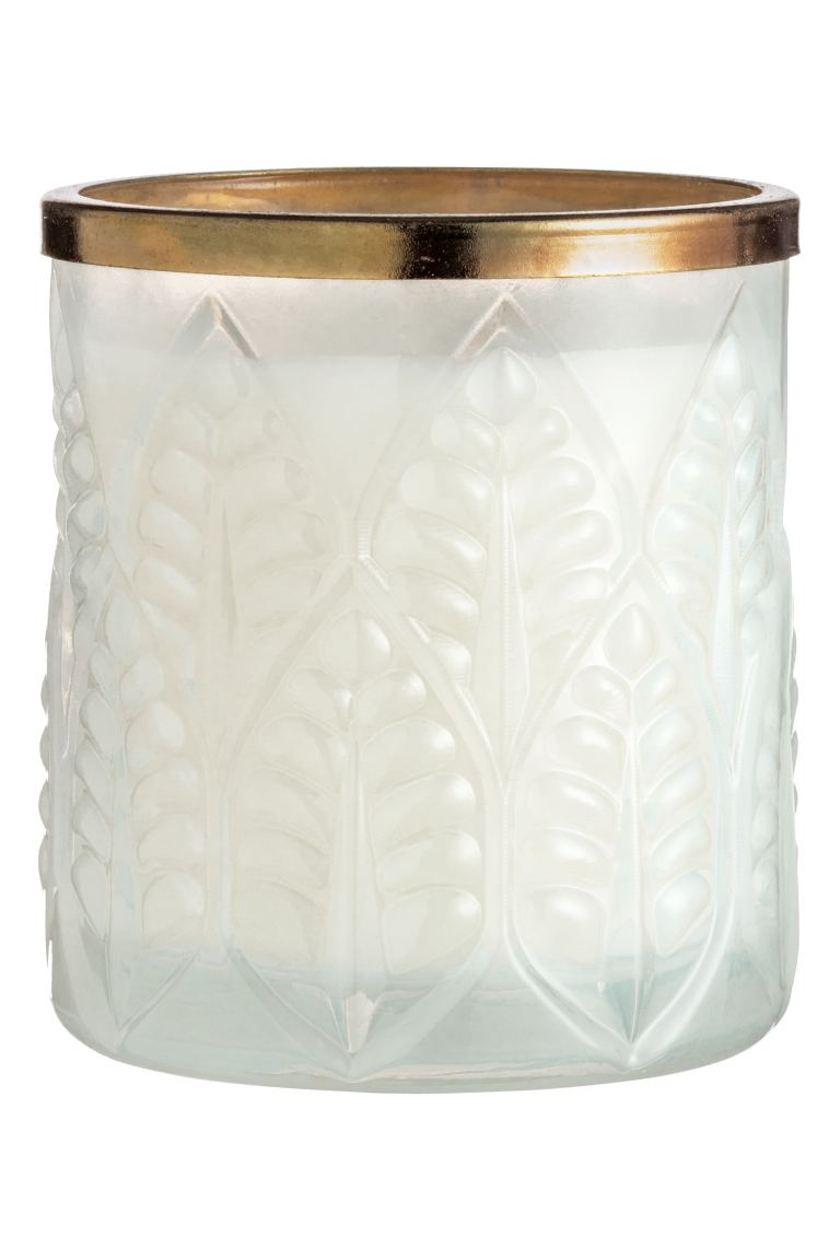Scented candle in glass holder - Clear glass/Bergamot - Home All | H&M GB