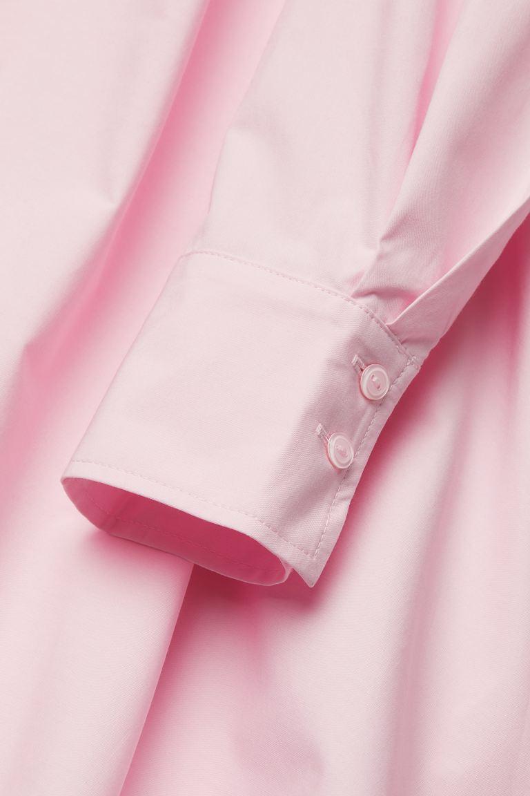 Cotton poplin dress   Pink   Ladies   H&M