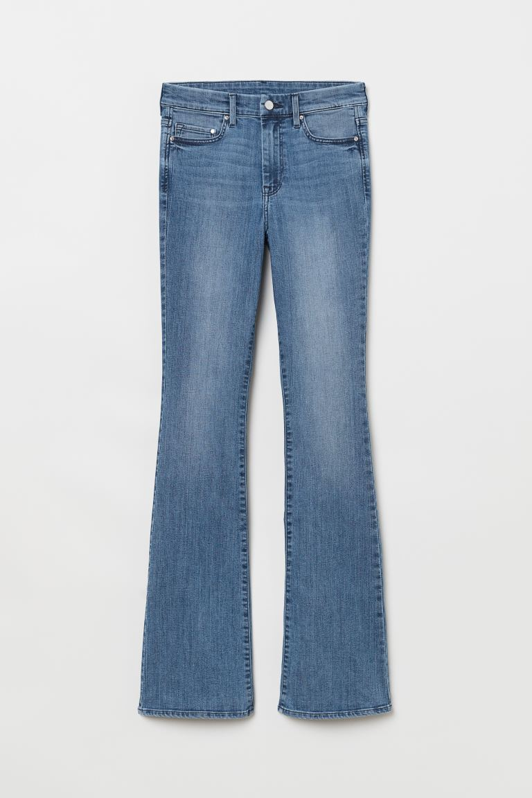 Mini Flare High Jeans - Blu denim - DONNA | H&M IT