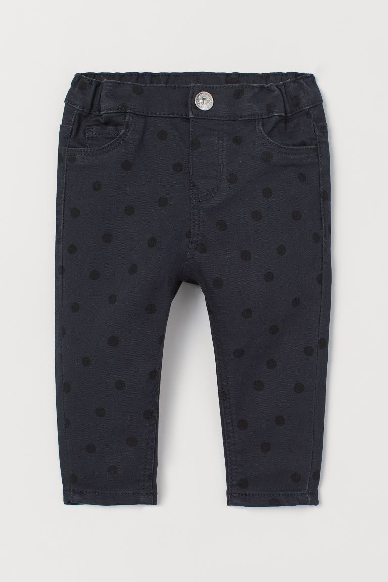 Jeans - Black/Black spotted - Kids | H&M