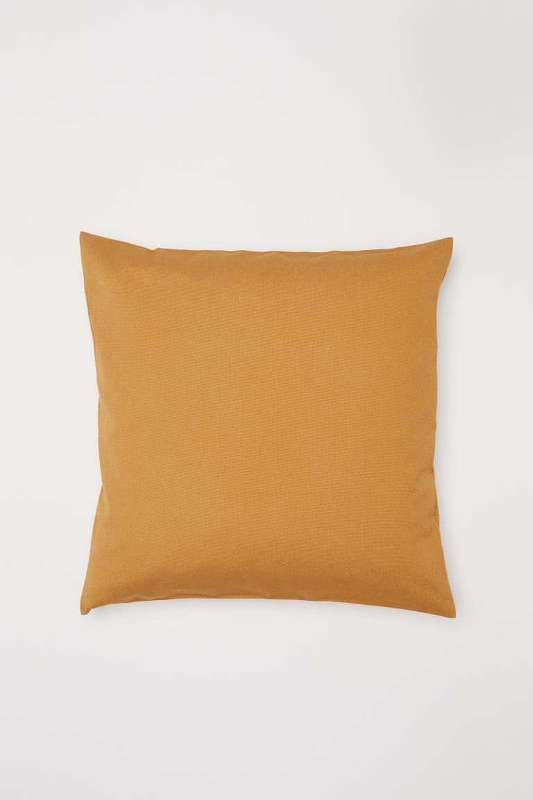 Cotton canvas cushion cover - Mustard yellow - Home All | H&M GB