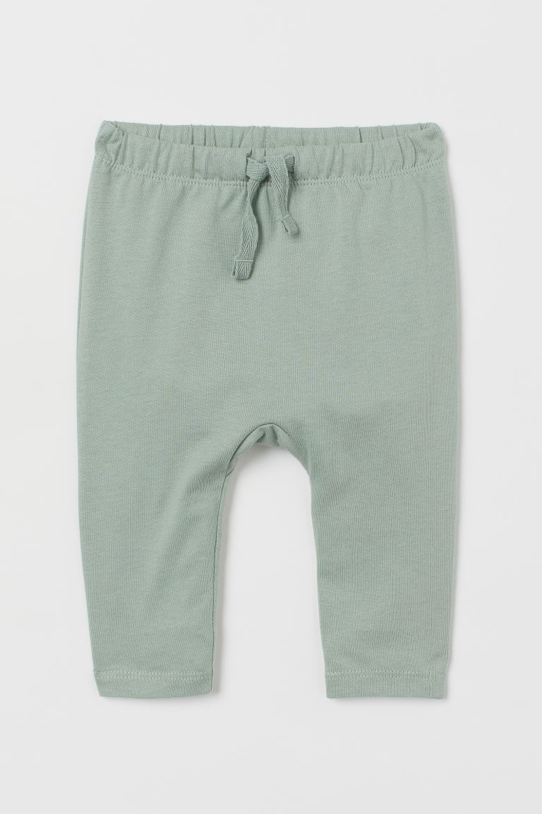Cotton jersey trousers - Light green - Kids | H&M IE
