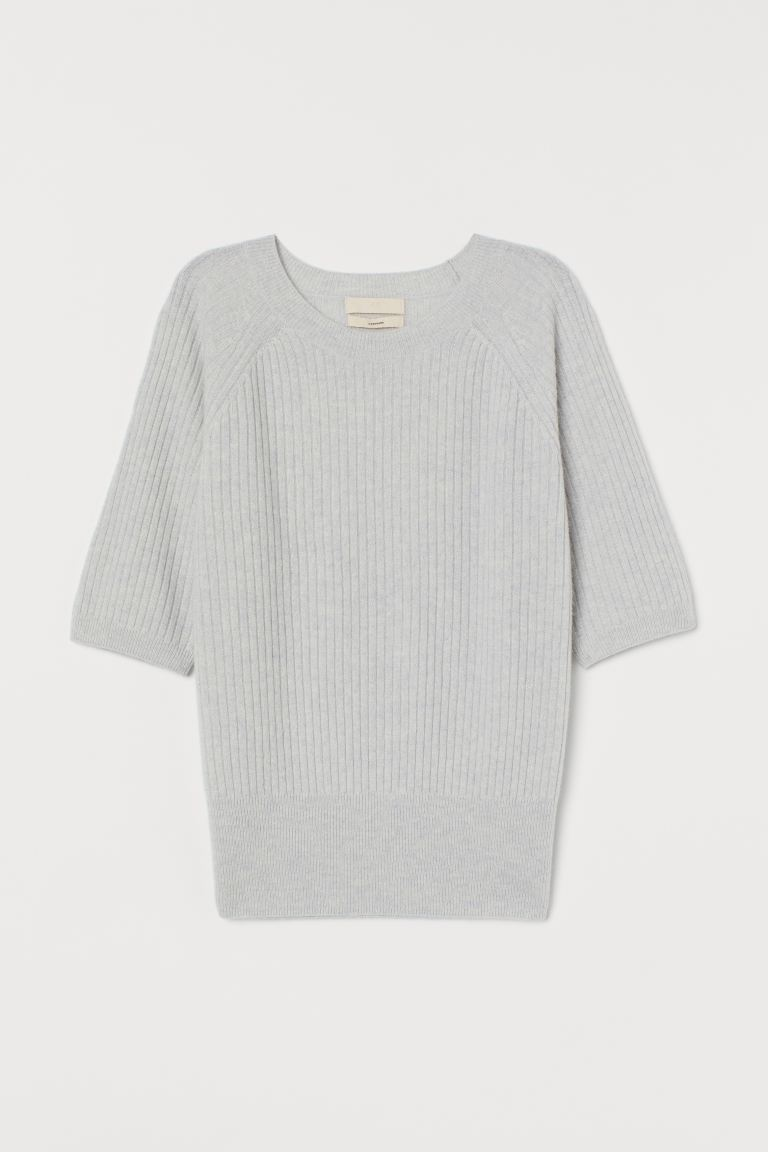 Cashmere jumper - Light grey - Ladies | H&M IN