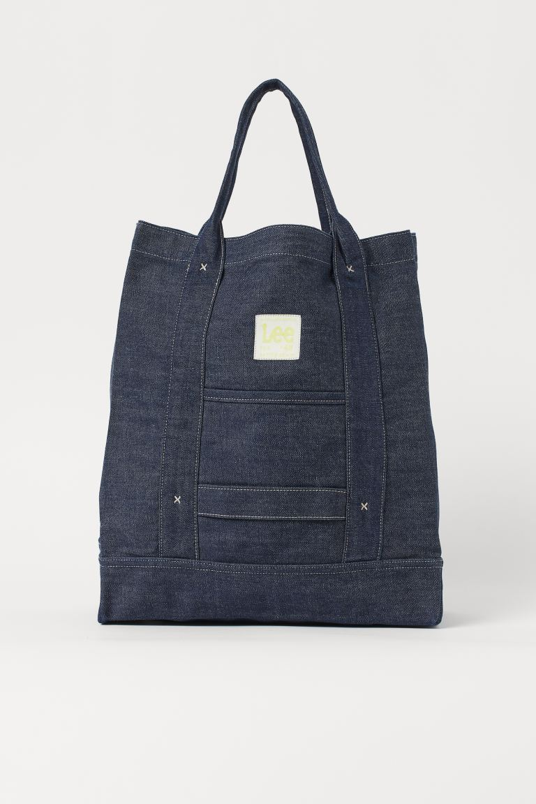 Denim shopper - Raw denim blue - Men | H&M GB