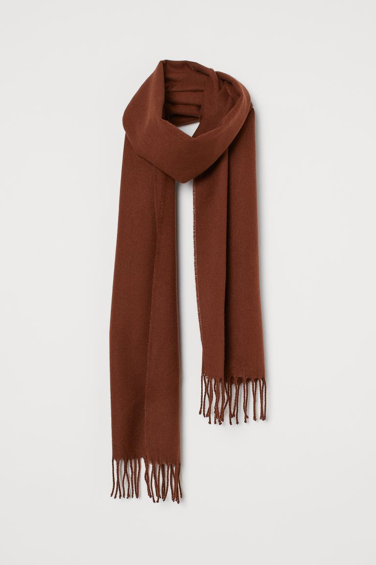 Woven scarf - Brown - Men | H&M IE