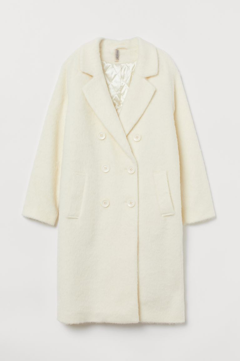 Knee-length Coat - Cream - Ladies | H&M CA