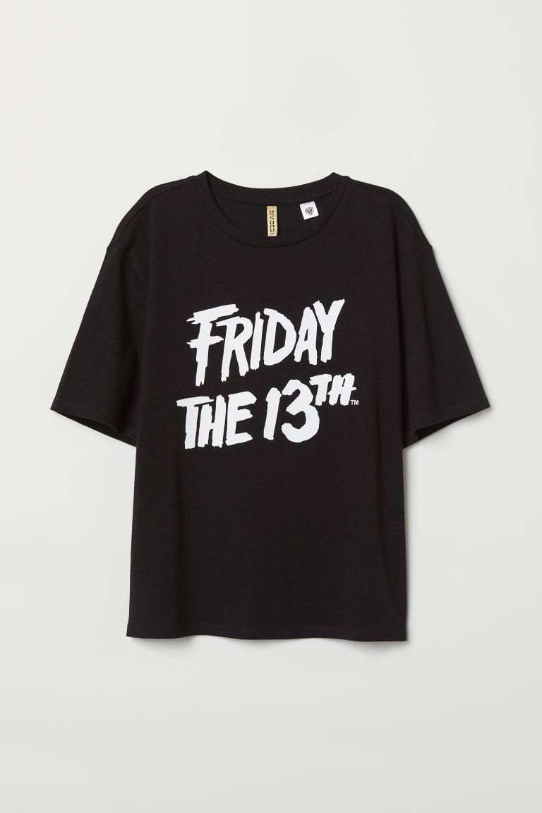 Camiseta con estampado - Negro/Friday the 13th - MUJER | H&M ES