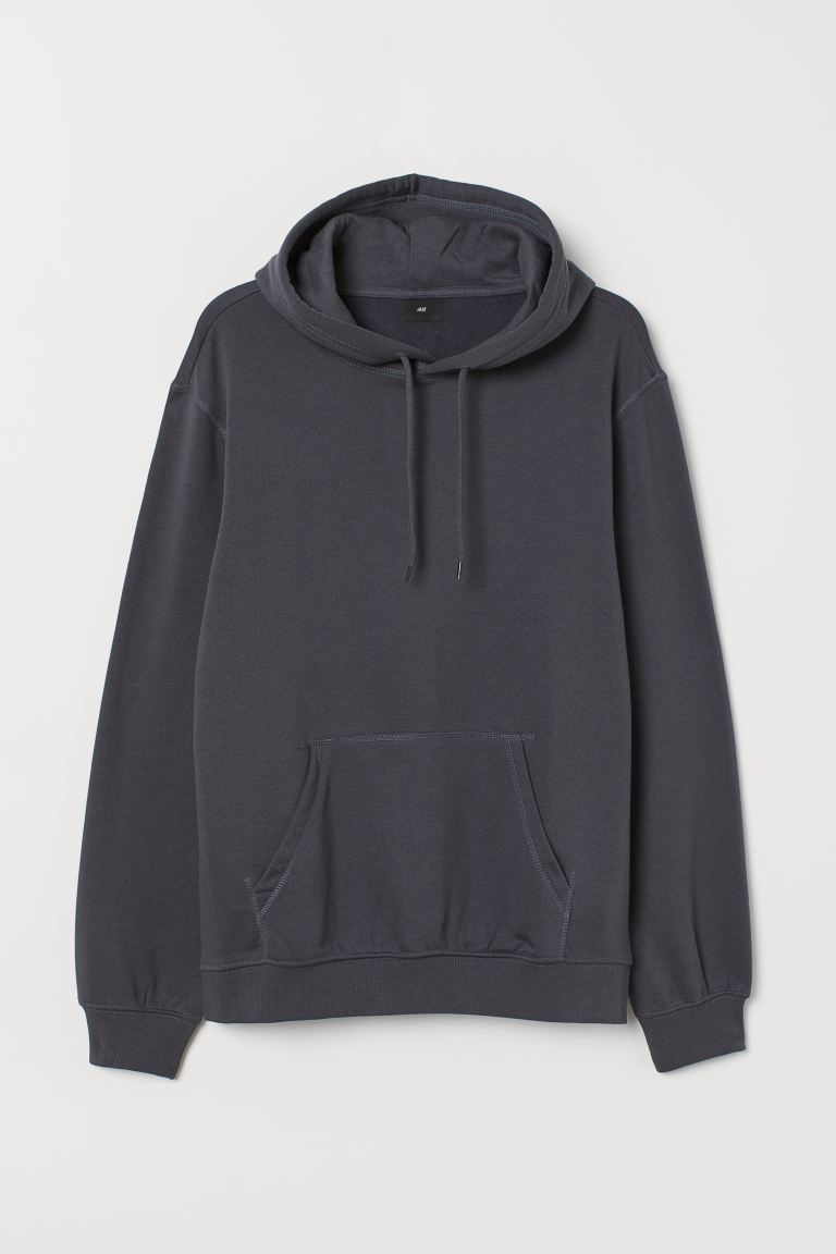 Relaxed Fit Hoodie - Dark grey - Men | H&M