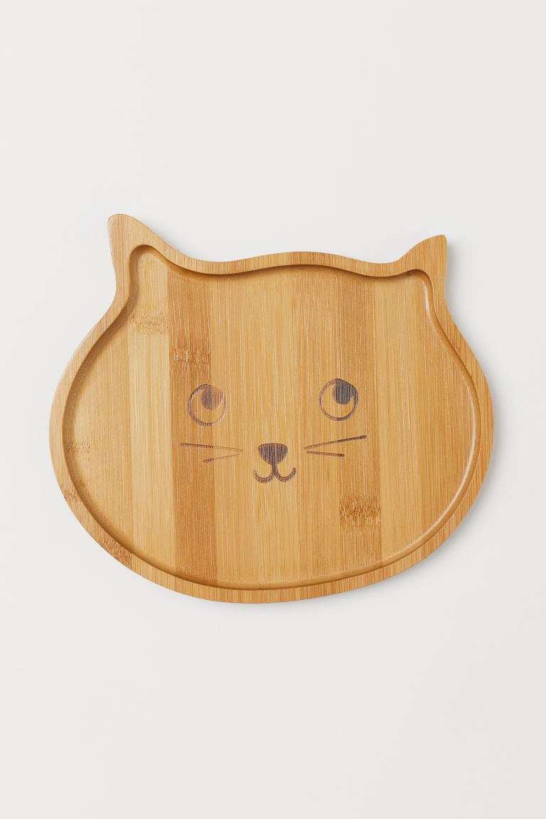 Petit plateau en bambou - Beige/chat - Home All | H&M FR