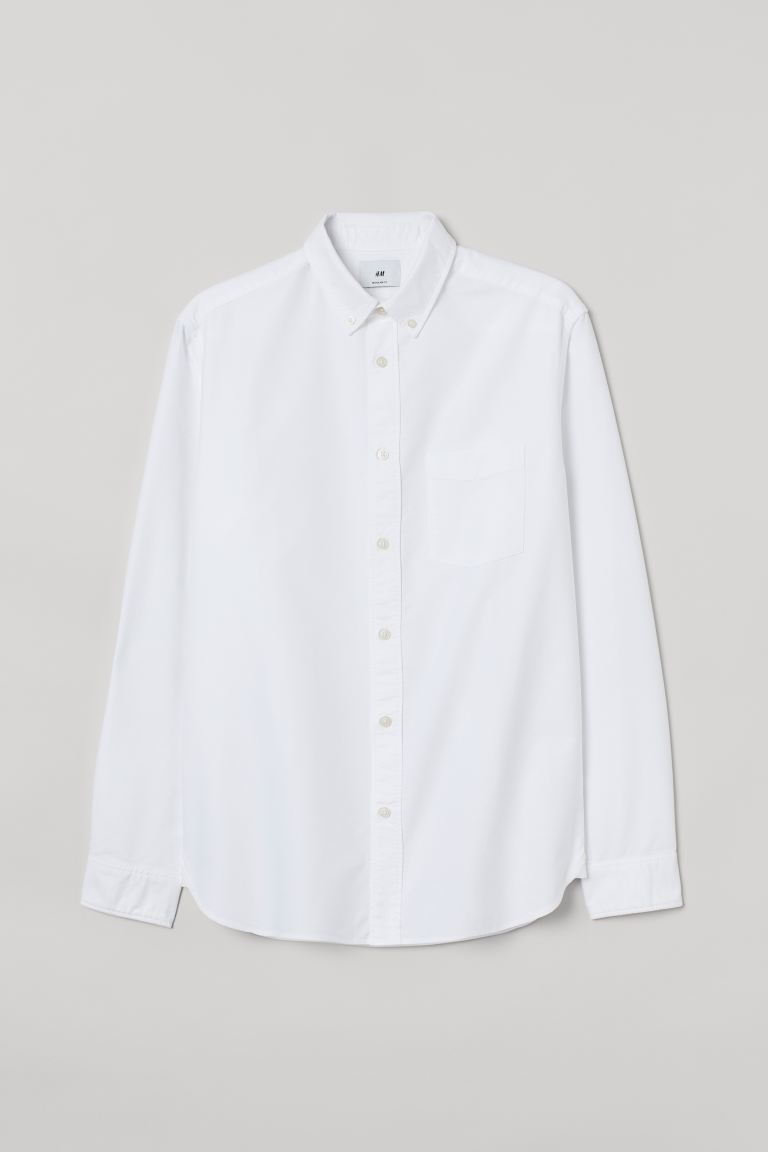 Camisa Oxford Regular Fit - Blanco - HOMBRE | H&M ES