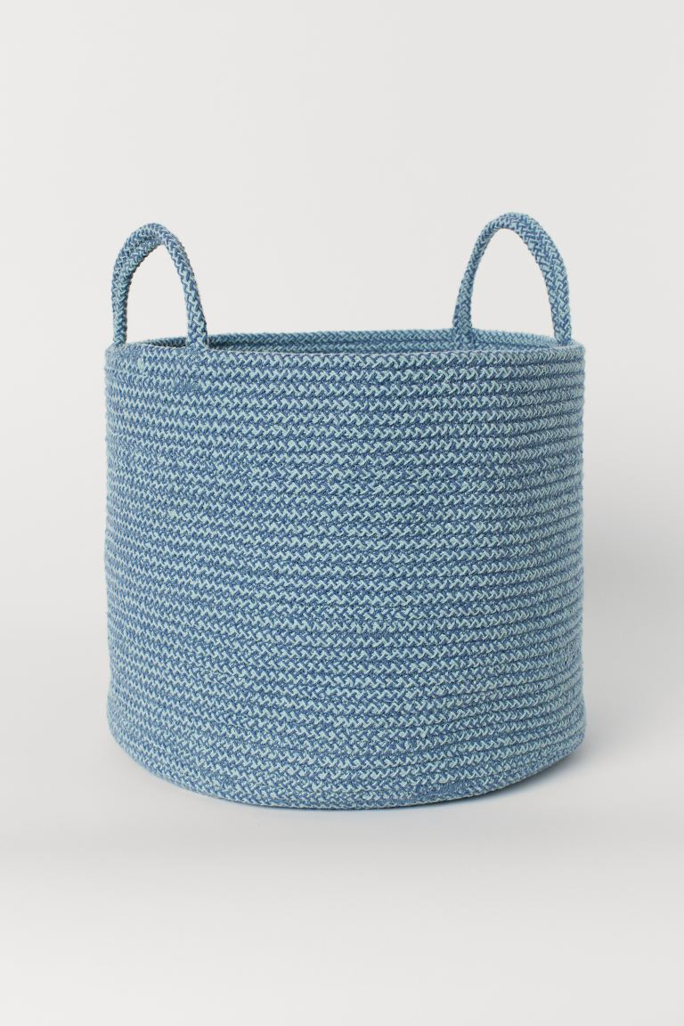 Cotton Storage Basket - Turquoise melange - Home All | H&M US