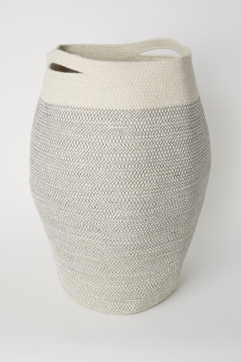 Jute Laundry Basket - Natural white - Home All | H&M US