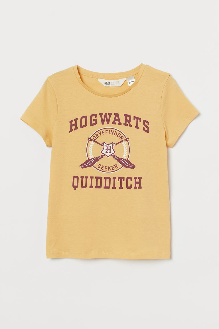 Top imprimé en jersey - Jaune clair/Harry Potter - ENFANT | H&M FR