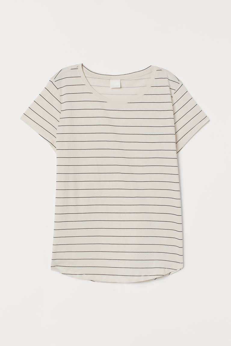 T-Shirt - Weiß/Gestreift - Ladies | H&M AT