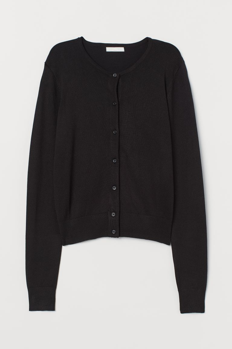 Feinstrick-Cardigan - Schwarz - Ladies | H&M AT