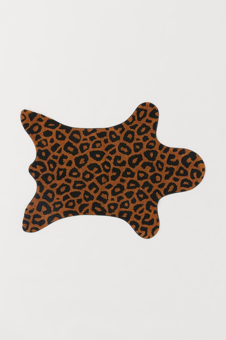 Teppich in Tierform - Braun/Leopardenmuster - Home All | H&M AT