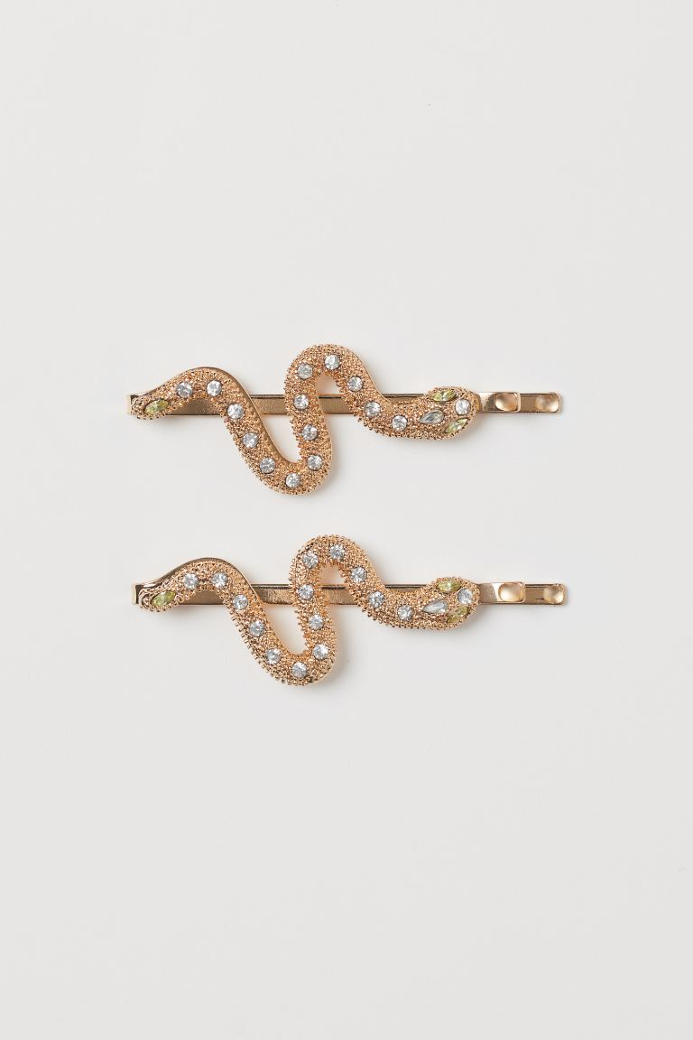 Snake-shaped Hairpins - Gold-colored - Ladies | H&M US