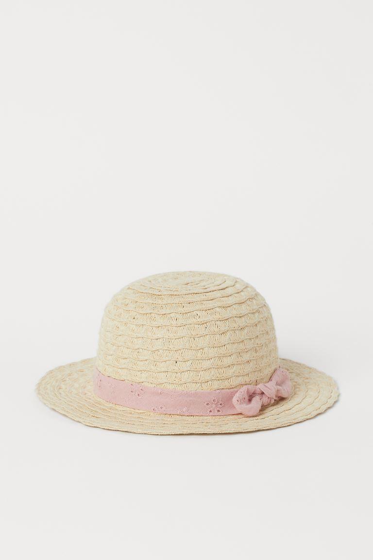 Chapeau de paille - Beige clair - ENFANT   H&M FR