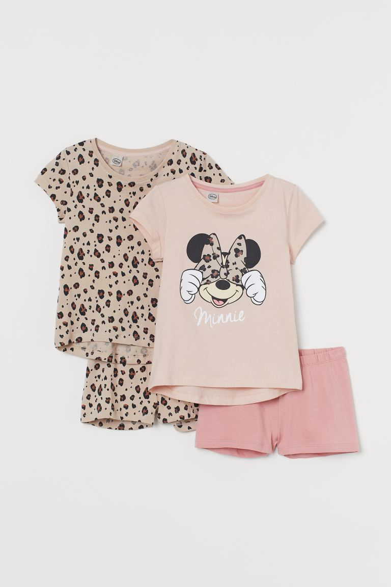 2-pack de pijamas - Rosa palo/Minnie Mouse - Kids | H&M MX