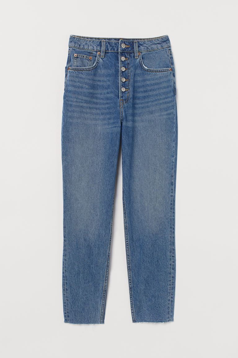 Slim Mom High Ankle Jeans - Niebieski denim - ONA | H&M PL