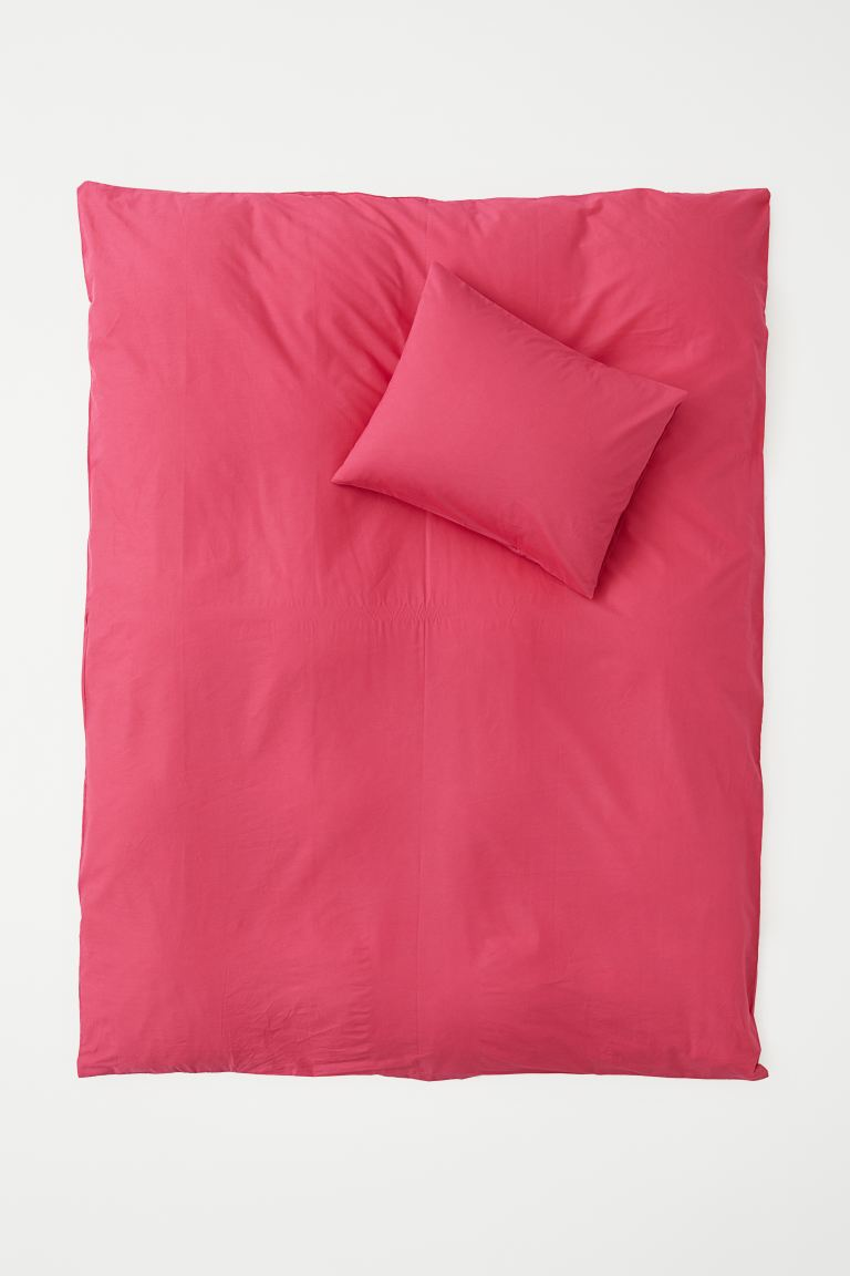 Påslakanset i bomull - Cerise - Home All | H&M SE