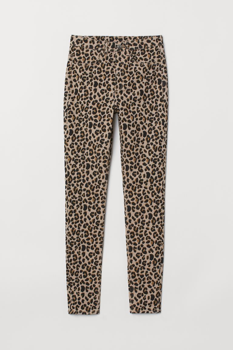 Super Skinny High Jeans - Beige/Leopardendruck - Ladies | H&M AT