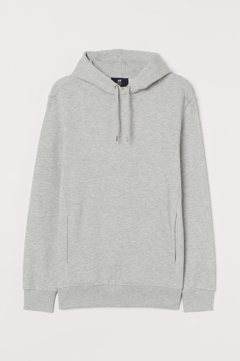 Regular Fit Hoodie - Light gray melange - Men | H&M US