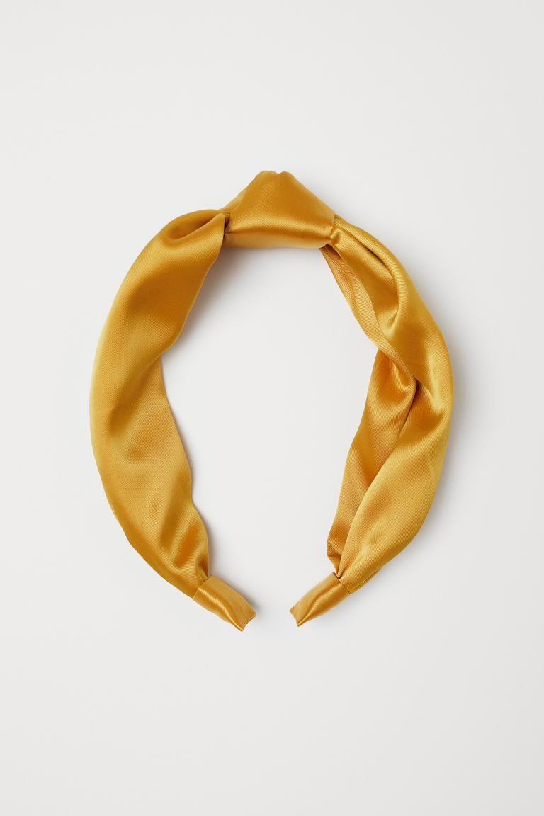 Hairband with Knot - Yellow - Ladies | H&M US