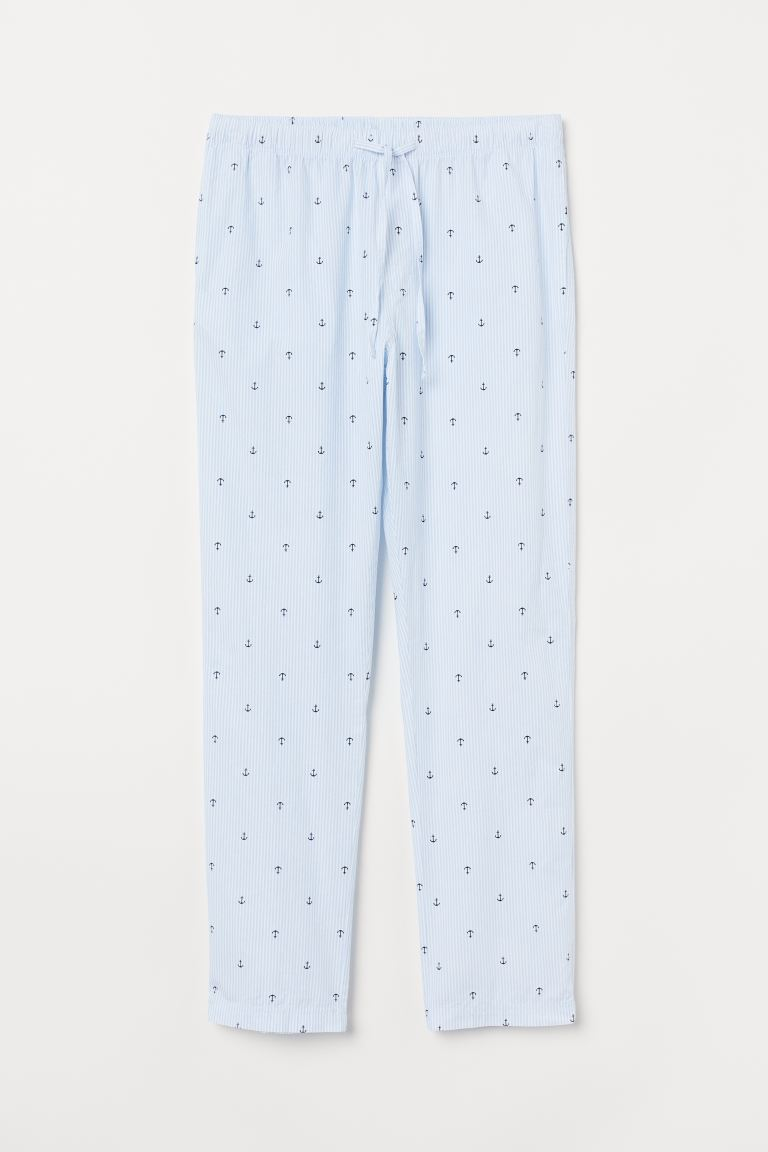 Pyjama bottoms - Light blue/Anchors - Men | H&M