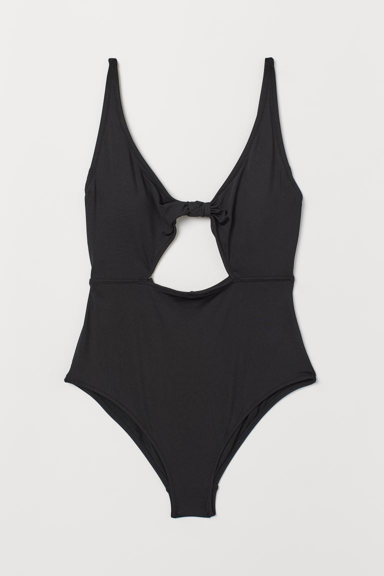 Cut-out swimsuit - Black - Ladies | H&M GB