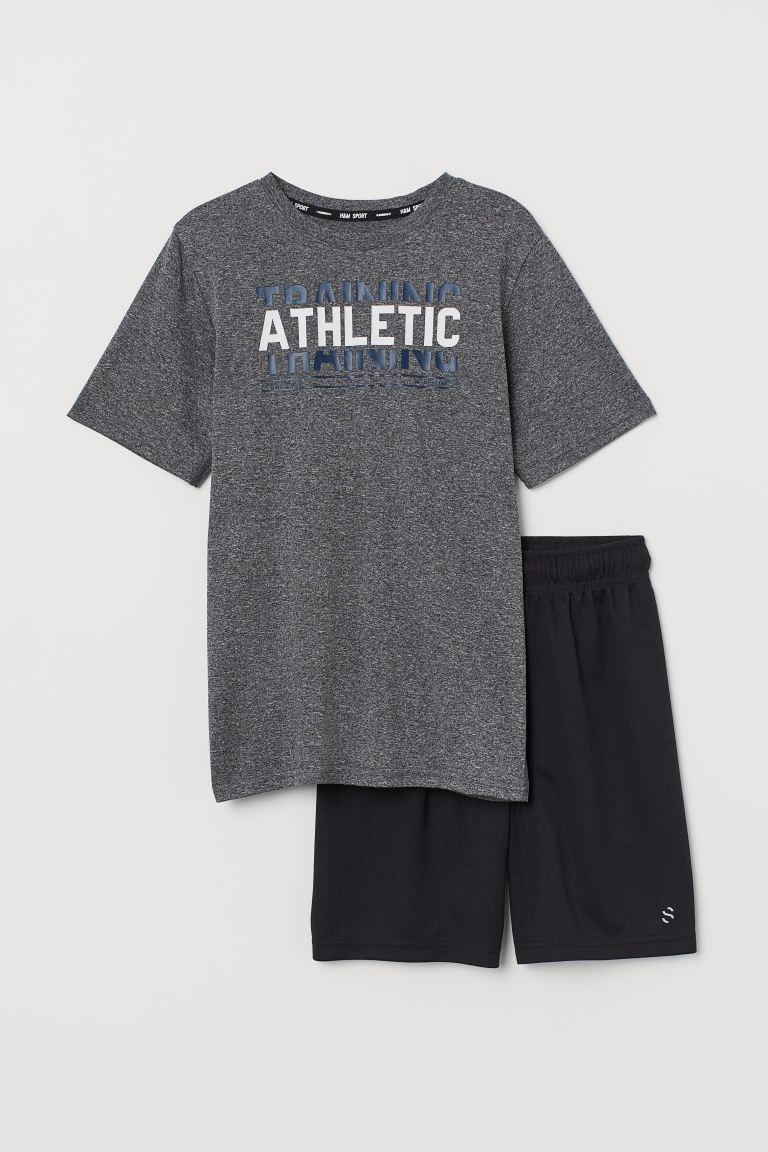 Treningssett - Mørk grå/Athletic - BARN | H&M NO