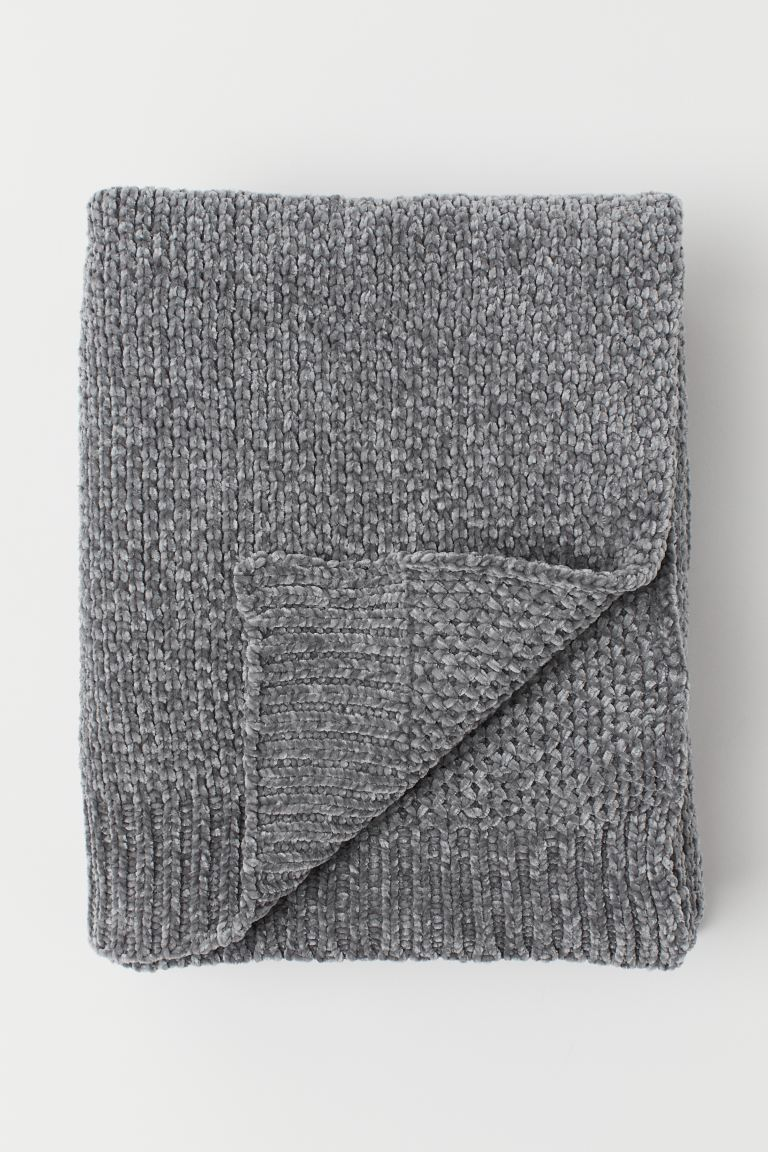 Chenille Throw - Gray - Home All | H&M US