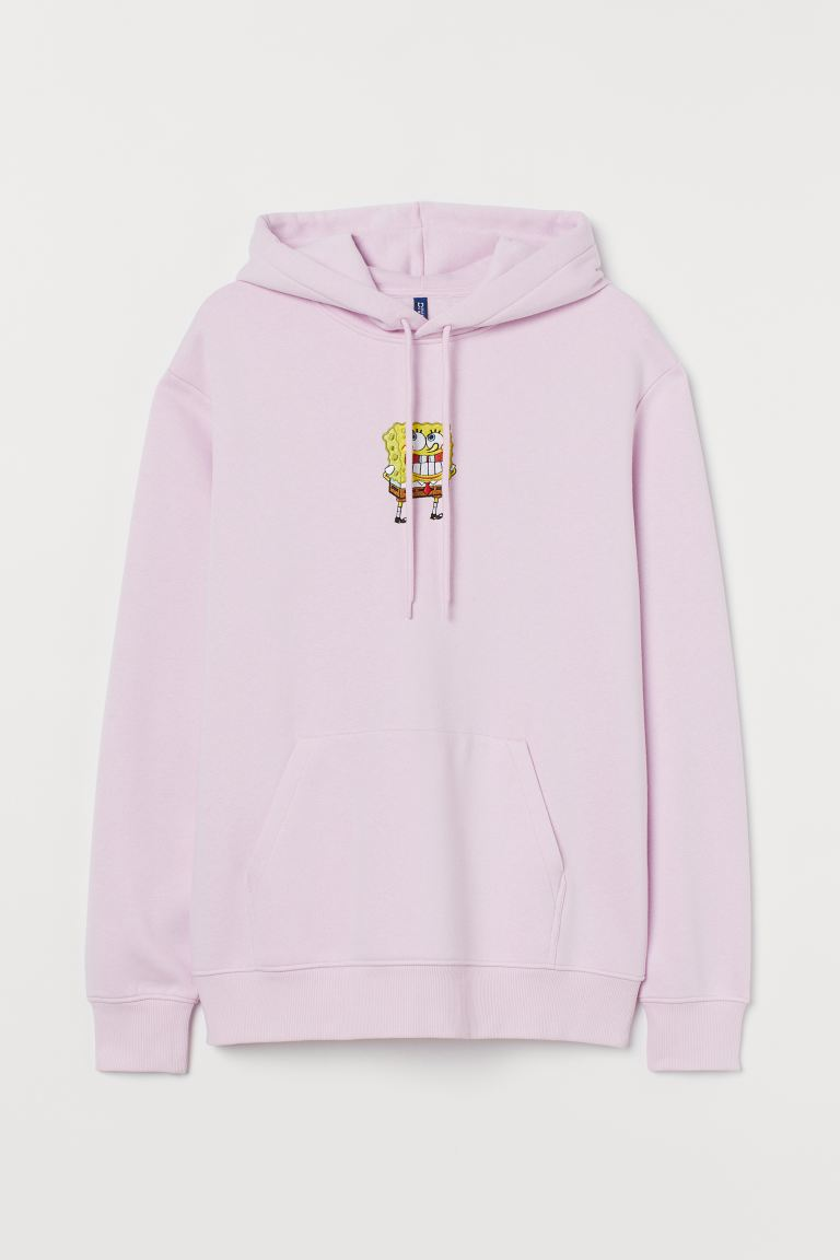 Regular Fit Hoodie - Light pink/SpongeBob - Men | H&M CA