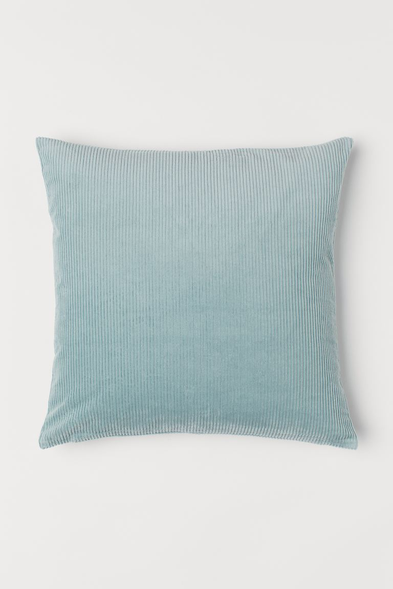 Corduroy Cushion Cover - Light turquoise - Home All | H&M US
