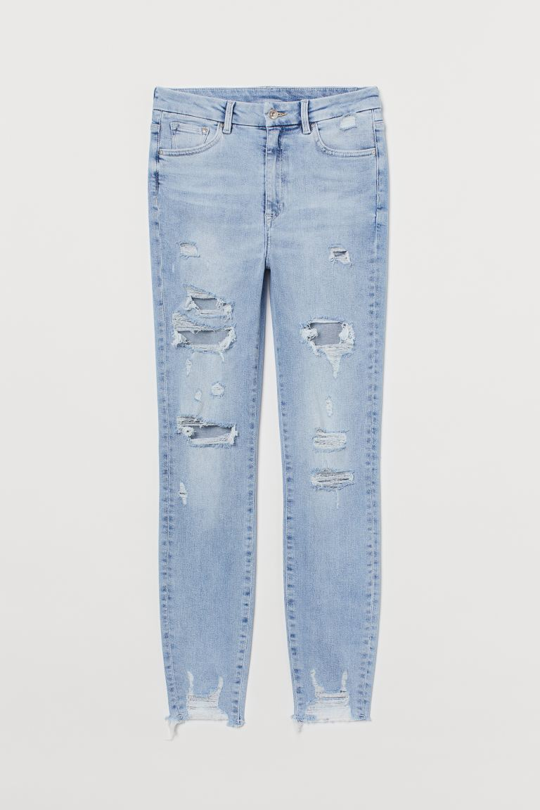Embrace High Ankle Jeans - Ljus denimblå - DAM | H&M SE