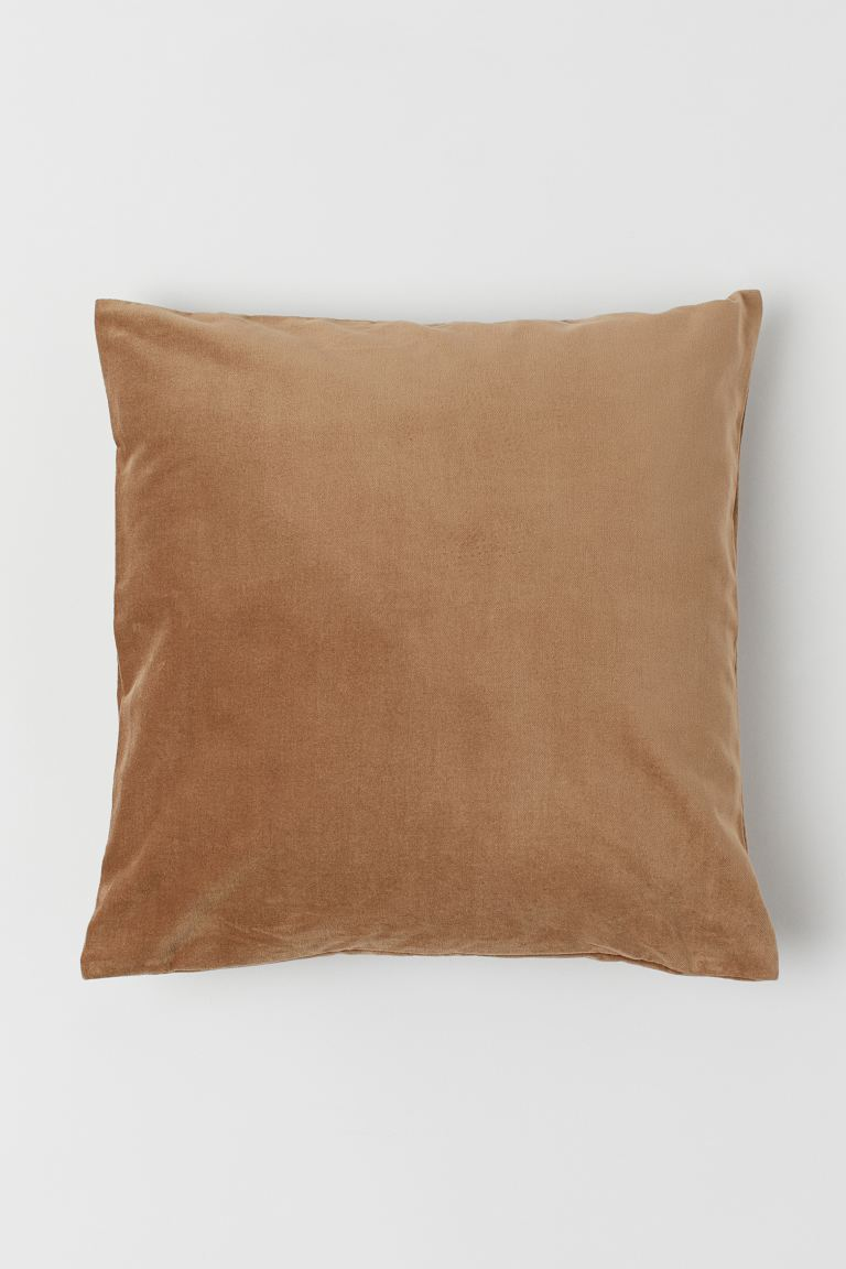 Velvet cushion cover - Dark beige - Home All | H&M GB