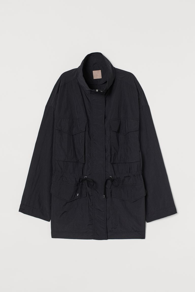 H&M+ Utility Jacket - Black - Ladies | H&M US